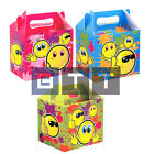 Emoji Smiley Face Happy Birthday Party Boxes Childrens Fun Picnic Food Meal Box