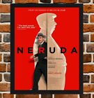 Framed Neruda Movie Film Poster A4 / A3 Size Mounted In Black / White Frame