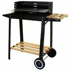 Large Rectangular BBQ Barbecue Steel Charcoal Grill Outdoor Patio Garden Party New