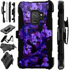 For Samsung Galaxy Phone Case Holster Stand Cover ARTISTIC CAMO PURPLE LuxGuard