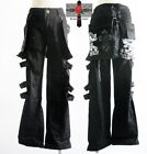 2Way Unisex Visual Kei Resident Evil Cyber Punk Skull Waist Patch Slim Pants