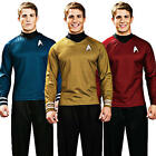 Star Trek Shirt Adult Fancy Dress Scott Kirk Spock Sci Fi Mens Costume Outfit on eBay