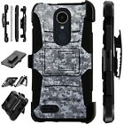 For Apple / LG Phone Case Holster Kick Stand Cover DIGITAL CAMO GRAY Lux Guard
