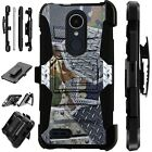 For Apple / LG Phone Case Holster Kick Stand Cover CAMO METAL SCRAP Lux Guard