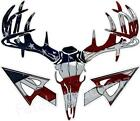 American Flag Deer Skull S4 Arrow Vinyl Sticker Decal Buck Bow Whitetail