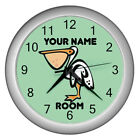 Personalized Cartoon Pelican Plastic Frame Child Novelty Wall Clock