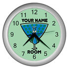 Personalized Cartoon Peacock Plastic Frame Child Novelty Wall Clock