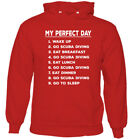 My Perfect Day Scuba Diving Mens Funny Hoodie Dive Diver Sea Equipment Gear Kit