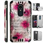 SILVER GUARD For LG Aristo / Stylo Phone Case Cover WATERCOLOR FLOWER PINK