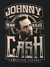 JOHNNY CASH TOUR album COUNTRY music THE MAN IN Black VINTAGE Retro MENS T-Shirt image