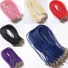 Wholesale 10Pcs/Lot Charms Real Leather Cord Chain Necklace with Lobster Clasp image