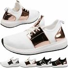 WOMENS SHOES LADIES TRAINERS FLATS LACE UP SPORTS FITNESS JOGGING STYLE SIZE NEW