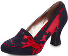 2cc1cf4ee11b11 Ruby Shoo CAMILLA Vintage FLORAL Blumen PATENT Leather Heels PUMPS  Rockabilly
