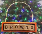 Cleveland Browns Christmas Ornament Scrabble Tiles Magnet $8.99 USD on eBay