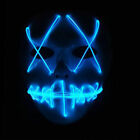 Halloween Mask LED Light Up Funny Masks The Purge Movie Scary Festival Costume