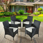 Rattan Chairs And Table Garden Furniture Set Patio Conservatory Outdoor