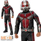 Deluxe Ant-Man Boys Fancy Dress Marvel Movie Comic Superhero Kids Costume Outfit