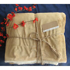 Soft Reversible Throw Faux Fur Lambs Wool Bed Sofa Warm Blanket Throw image