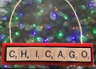 Chicago BlackHawks Hawks Christmas Ornament Scrabble Magnet Rear View Mirror $8.99 USD on eBay