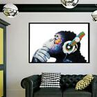 Внешний вид - Banksy DJ Monkey Gorilla Chimp Canvas Wall Art Print Picture Unframed Y