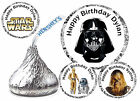 216 STAR WARS BIRTHDAY PARTY FAVORS HERSHEY KISS KISSES LABELS DARTH VADER etc $7.99 USD on eBay