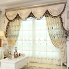 Luxury balcony curtain embroidery blackout lining sheer Hollow window curtain