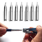 10/50/100Pcs 18.5mm 0.38mm General Black Fountain Pen Nib Silver Clip Durable