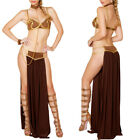 Women Princess Leia Slave Fancy Bra Top Dress Star Wars Bikini Halloween Costume $14.01 USD on eBay