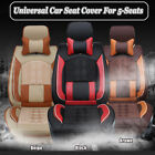 Universal Car Full Seat Cover For 5-Seats Front & Rear Leather Cushion W/ Pillow $75.04 USD on eBay