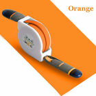 2 Retractable USB Cable Charger Lightning Micro Data Sync 2 in 1 for IOS Android