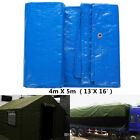 Blue Waterproof Tarpaulin Tarp Tent Canopy Ground Sheet Camping Car Boat Cover