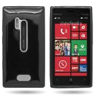 For Nokia Lumia 928 Flexible TPU Bumper + Hard Back Protector Cover Case