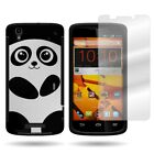 Hard Protective Hybrid Slim Phone Cover Case with Screen for ZTE Max / Boost Max