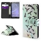 Flip Wallet Pouch Case Design Cover + Screen Protector for Sony Xperia T2 Ultra
