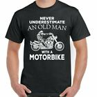 Mens Funny Biker T-Shirt Cafe Racer Fathers Day Birthday 30th 40th 50th 60th Top