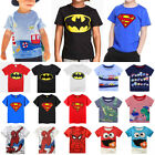 Boys Kids Casual Short Sleeve T-shirt Cartoon Summer Tops Clothing Blouse Tee