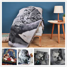 130x160cm Cat Dog Woven Cotton Throw Rugs Sofa Knitted Blanket Tapestry Jacquard