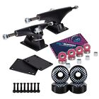 "Cal 7 5.25"" Skateboard Trucks w/ 52mm 99A Graphic Wheels, Bearings, and Hardware"