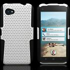 Hard Soft  Rugged Hybrid Mesh Armor Phone Cover Case For HTC First