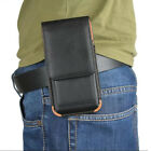 """Universal Phone 6.5"""" Waist Bag Pouch Belt Loop Holster Leather Wallet Case Cover"""