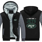 NFL NY New York Jets Sweater Zipper Thicken Hoodie Unisex Jacket Winter Coat on eBay