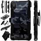 Lux-Guard For iPhone 6/7/8 PLUS/X/XR/XS Max Phone Case Cover CAMO BLACK