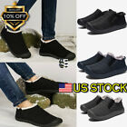 NEW Men's Winter Warm Fur Lining Shoes Slip On Soft Waterproof Casual Shoes USA