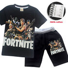 Fortnite Costume Cosplay Casual Tops T shirt +Pants Outsets Outfits Pyjamas UK