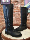 Kenneth Cole Skinny Love Black Leather Moto Riding Boots NEW