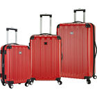 Travelers Club Luggage Madison 3 Piece 2-in-1 Hardside Luggage Set NEW