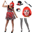 LADIES CLOWN KILLER CHOOSE TIGHTS HARLEQUIN HALLOWEEN FANCY DRESS COSTUME OUTFIT