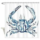 CafePress Coastal Nautical Beach Crab Shower Curtain (1614567859)