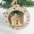 Christmas Tree Wooden Home Decoration Snowflakes Merry Xmas Hanging Ornament ca