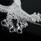 Lots 5pcs Silver 1mm 16-24inch Cable Chain For Men Women Pendants Necklace Gift